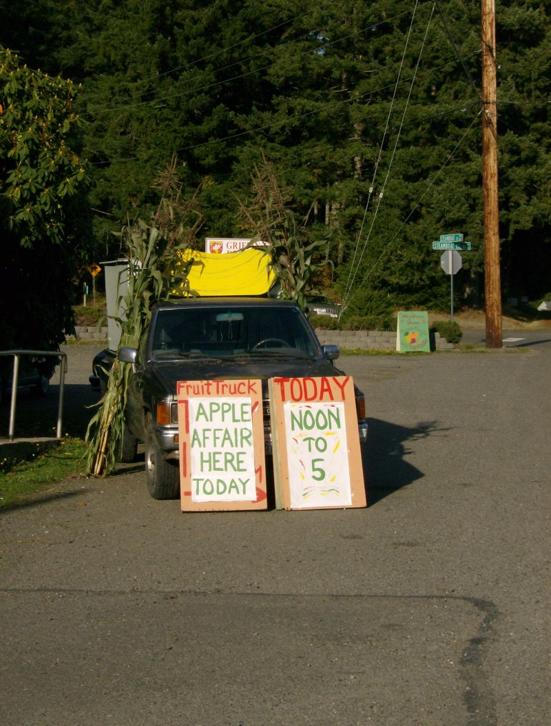 the iconic fruit stand truck and sign